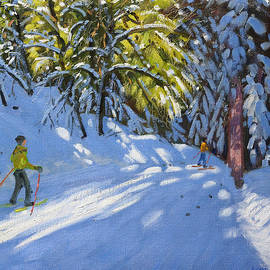 Andrew Macara - Skiing through the Woods  La Clusaz