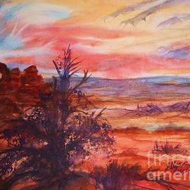 Ellen Levinson - Sunset Over Turret Arch