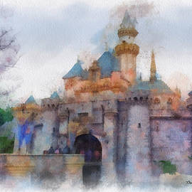 Thomas Woolworth - Sleeping Beauty Castle Disneyland Side View Photo Art 01