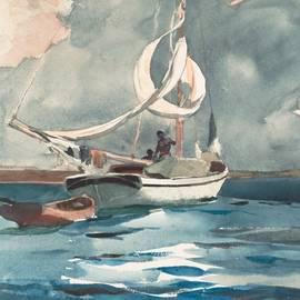 Winslow Homer - Sloop  Nassau Bahamas