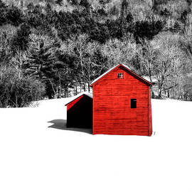 Geoffrey Coelho - Small Red Barn - Selective Color - Square