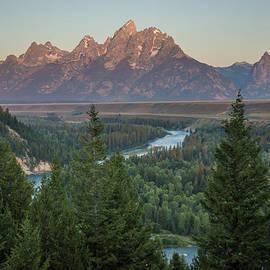 Randall Branham - Snake River Winds toward Tetons