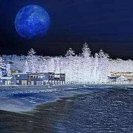Kaye Menner - Snow at Sydney Beach - Artistic Impression