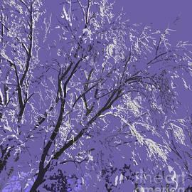 Adri Turner - Snow Covered Trees Purple Abstract
