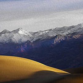 Joe Schofield - Snow on the Grapevine Range in Oil