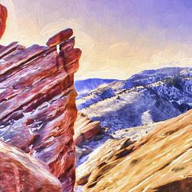 Barry Jones - Colorado - Red Rock - Snow On The Rocks