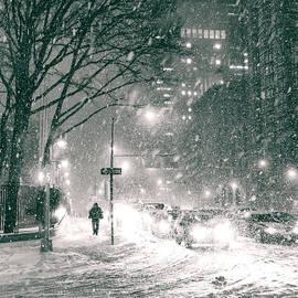 Vivienne Gucwa - Snow Swirls at Night in New York City