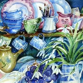 Trudi Doyle - Snowdrops on a Kitchen Dresser