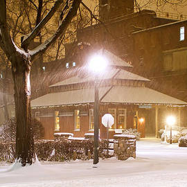Delmas Lehman - Snowing at the Old Railroad Station