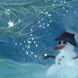 First Star Art  - Snowman by jrr
