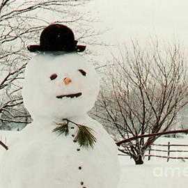 Anna Lisa Yoder - Snowman Enjoying a Snowy Day