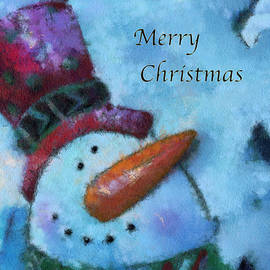 Thomas Woolworth - Snowman Merry Christmas Photo Art 04