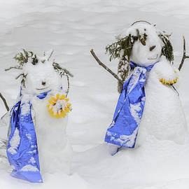 LeeAnn McLaneGoetz McLaneGoetzStudioLLCcom - Snowman snowball fight
