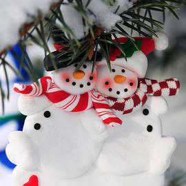 Elena Elisseeva - Snowmen Christmas ornament
