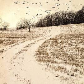 Edward Fielding - Snowy Country Road
