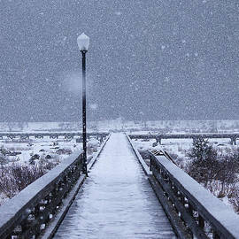 Stanza Widen - Snowy Day on the Boardwalk