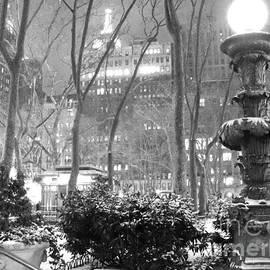 Miriam Cintron - Snowy Night in Bryant Park II
