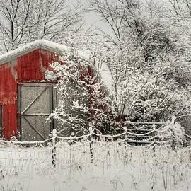 Michael Allen - Snowy Red Barn