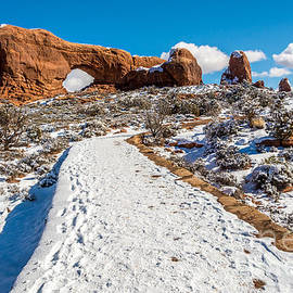 Bob and Nancy Kendrick - Snowy Trail to the North Window