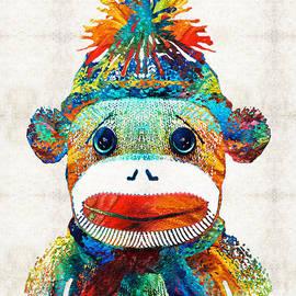 Sharon Cummings - Sock Monkey Art - Your New Best Friend - By Sharon Cummings