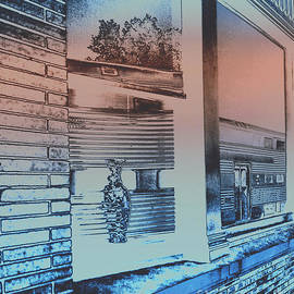 ImagesAsArt Photos And Graphics - Solarizied Train Station Window Reflection