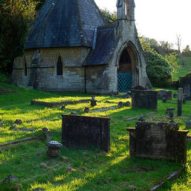 Robert Ford - Somber Mood and Silhouette of Saint Mary the Virgin Chapel Bathwick Smallcombe Bath Somerset England