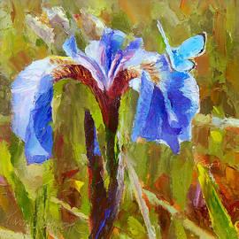 Karen Whitworth - Something Blue Alaskan Wild Iris and Blue Butterfly