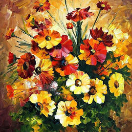 Leonid Afremov - Songs Of My Heart - PALETTE KNIFE Oil Painting On Canvas By Leonid Afremov