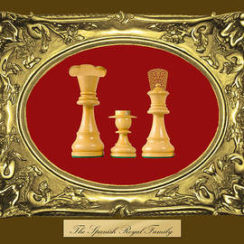 Enrique Amat - Spanish Royal Family Chess Framed