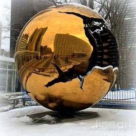 Miriam Danar - Sphere Within a Sphere Sculpture at United Nations