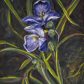 Karen Rispin - Spiderwort on forest floor