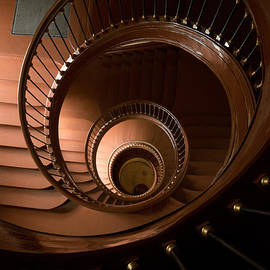 Jaroslaw Blaminsky - Spiral staircase in chocolate brown colour