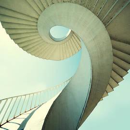 Jaroslaw Blaminsky - Spiral stairs in pastel tones
