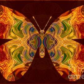 Omaste Witkowski - Spiritual Transformation Abstract Butterfly Artwork