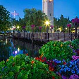 Inge Johnsson - Spokane Clocktower by Night