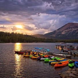Lynn Bauer - Spotlight Over Lake Mary Marina