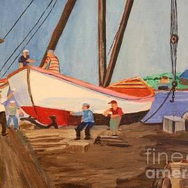 Bill Hubbard - Spring at the Harbor - Tysver