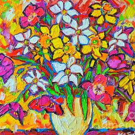Ana Maria Edulescu - Spring Flowers Bouquet Colorful Tulips And Daffodils