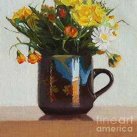 Charmaine P Jackson - Spring Flowers in Autumn Cup