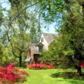 Susan Savad - Spring - Suburban House With Azaleas
