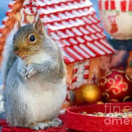 Jayne Carney - Squirrel at Christmas