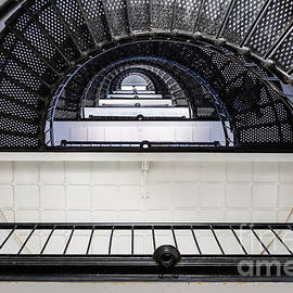 Dawna  Moore Photography - St. Augustine Lighthouse Staircase St. Augustine Florida