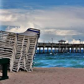 Chuck  Hicks - Stacked Beach Chairs