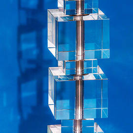 Art Block Collections - Stacked Cubes on Blue