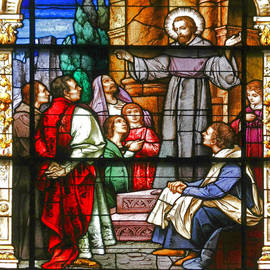 Christine Till - Stained Glass Window Saint Augustine preaching