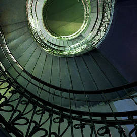 Jaroslaw Blaminsky - Staircaise with metal spiral ornamented stairs