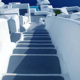 Colette V Hera  Guggenheim  - Stairs down to oceon Santorini