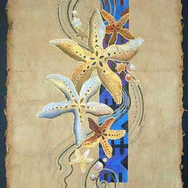 Maria Rova - Starfish on Blue Masi
