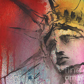 Svetlana Novikova - Statue of Liberty New York painting