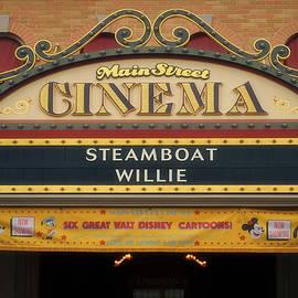 Thomas Woolworth - Steam Boat Willie Signage Main Street Disneyland 02